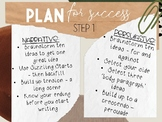 """7 Steps to Writing Success Poster in my """"Aussie Theme"""""""