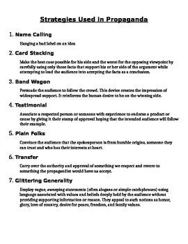 7 Strategies Used in Propaganda