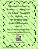 7 Strategies to Reading Success in Kindergarten