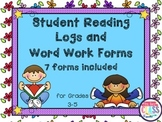 Reading Logs and Word Work  7 Data Collection Forms