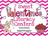7 Sweet Valentine's Day Literacy Centers {Second Grade Cup