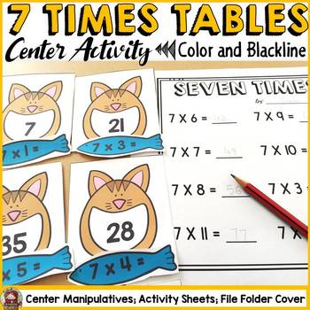 7 TIMES TABLES CENTER ACTIVITY: MULTIPLICATION