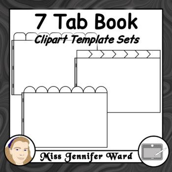 7 Tab Book Clipart Sets