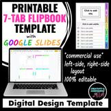 7-Tab Flip Booklet Design Template | Google Slides™ For Printing |Commercial Use