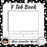 7 Tab Book Template