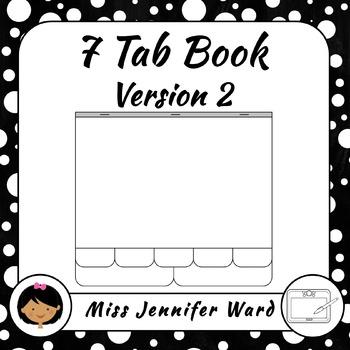 7 Tab Book Version 2 Clip art