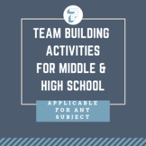 7 Team Building Activities for Middle or High School; perfect for back to school