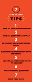 7 Test Taking Tips Bookmark