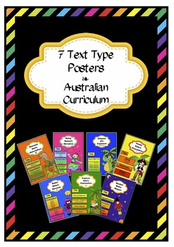 7 Text Type Posters - Australian Curriculum