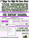 Women's Suffrage: 7 Things You Might Not Know: Webquest (1