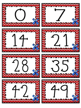 """7"" Times Table Flash Cards"