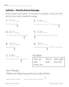 Skip Counting & Multiplying by 7 - Song w/ Lyrics & Activities (Common Core)