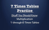 7 Times Table Practice