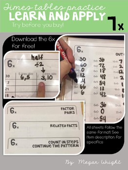 7 Times Table Practice and Apply