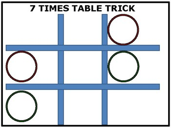 7 Times Table Trick Poster (in 3 steps) (English and Spanish)