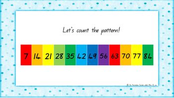 7 Times Table Warm Up ACARA C2C Common Core aligned PowerPoint