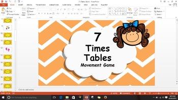 Multiplication 7 Times Tables Game / Brain Break