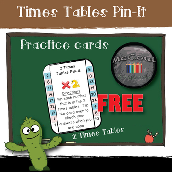Times Tables Pin-It Cards: 2 Times Table