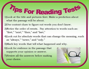 7 Tips for Reading Tests