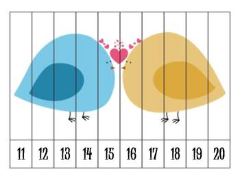 7 Valentines Number Order Puzzles {FREEBIE}