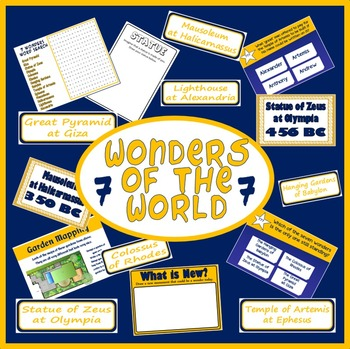 7 WONDERS OF THE WORLD TEACHING RESOURCES ANCIENT HISTORY KEY STAGE 2 EGYPT
