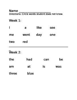 7 Weeks of Sight Words