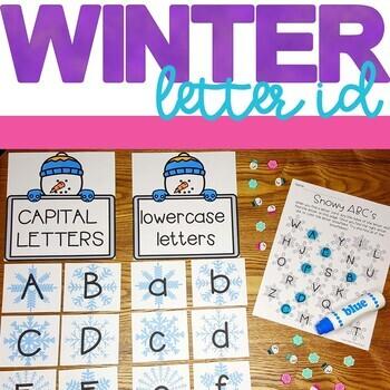 7 Winter Letter ID activities