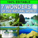 7 Wonders of the Natural World - 100% Editable