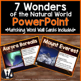 7 Wonders of the Natural World PowerPoint