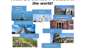 New 7 Wonders of the World ICT Activity