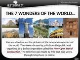 7 Wonders of the World Art Project Professional PP Presentation