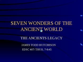7 Wonders of the World powerpoint