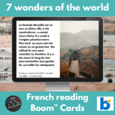 7 Wonders of the World - reading in French - Boom Cards™ version
