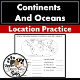 7 continents and 5 oceans location practice