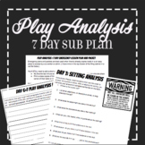 EMERGENCY SUB PLAN: 7 day Play Analysis Theatre Plan and Handout