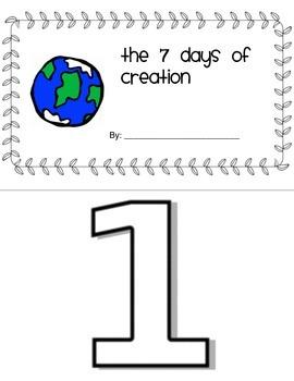 7 days of creation mini-book