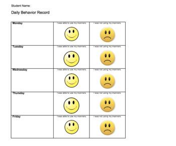 7 different Behavior Chart Forms