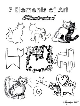 7 elements of art illustrated
