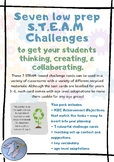 7 low prep STEAM & STEM challenge cards