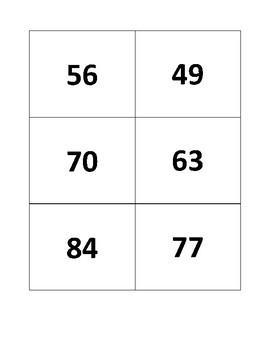 7's Multiplication Flashcards