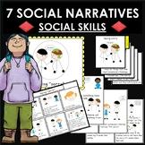 7 social skills social stories. Friendship. Flip/cue cards