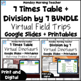 7 times table multiplication division activities print dig