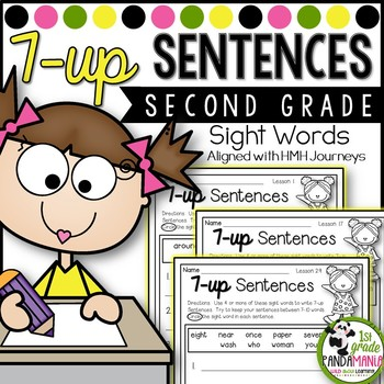 7-up Sentence Writing Using 2nd Grade Sight Words Aligned With HMH Journeys