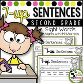 Journeys 2nd Grade 7-up Sentence Writing with Sight Words aligned with HMH