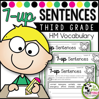 7-up Sentence Writing Using 3rd Grade Vocabulary Words Aligned with HMH Journeys