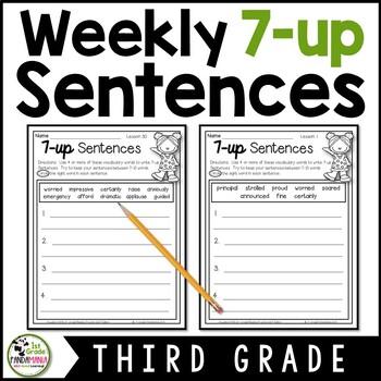 7-up Sentence Writing Using Houghton Mifflin Journeys 3rd