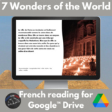 7 wonders of the world - Google Drive French reading activity