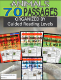 (Digital and Printable) 70 Leveled Passages (Animals) Guided Reading A to N