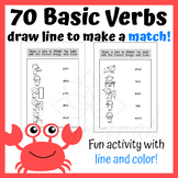 70 Basic Verbs: Match Verbs with Correct Pictures