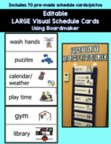 70 Large Editable Boardmaker Visual Schedule Cards(ASD, SPED, Special Education)